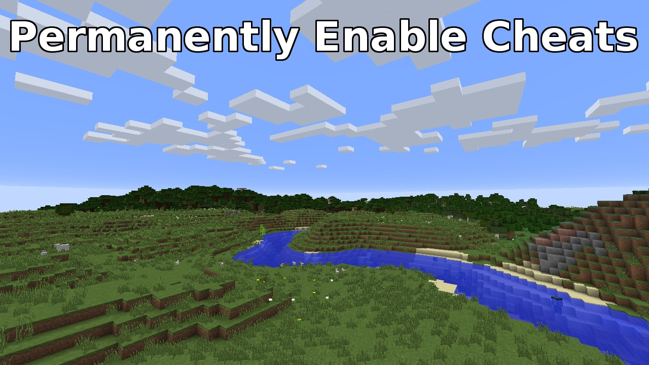 how to add cheats to a minecraft world