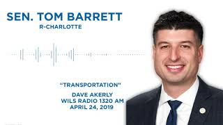 Sen. Barrett joined Dave Akerly to discuss Michigan transportation funding