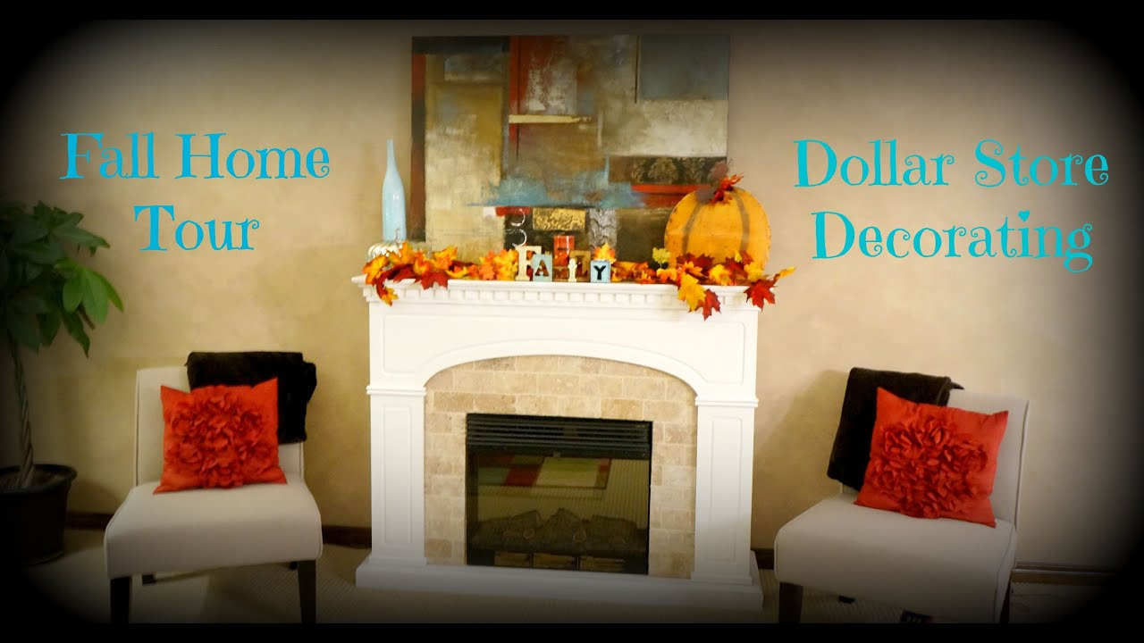 Fall home tour dollar store decorating youtube - Dollar store home decor ideas pict ...