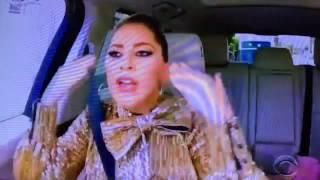 Lady Gaga and James Corden singing 'Bad Romance' on #GagaCarpool