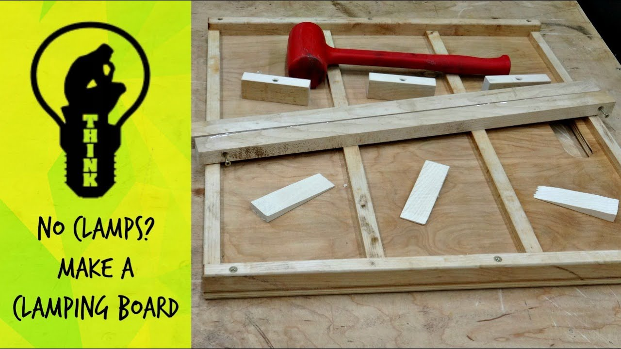 Awesome Make A Simple Wood Clamping Board // How To   YouTube