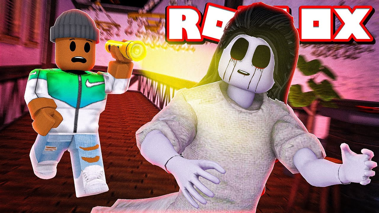 I Stayed A Night At A Haunted Hotel In Roblox Camping Part 12