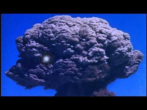 "US Nuclear test ""MET"", during Operation Teapot, at Frenchman Flats in Nye County ...HD Stock Footage"