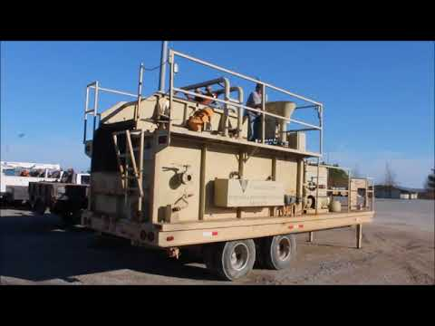 1999 Tulsa Rig Iron MSC-325 portable bentonite mud mixing system | no-reserve auction April 5, 2018