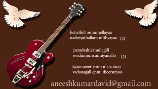 Kannuneer ennu marumo malayalam christan karoka with lyric by aneesh kumar david