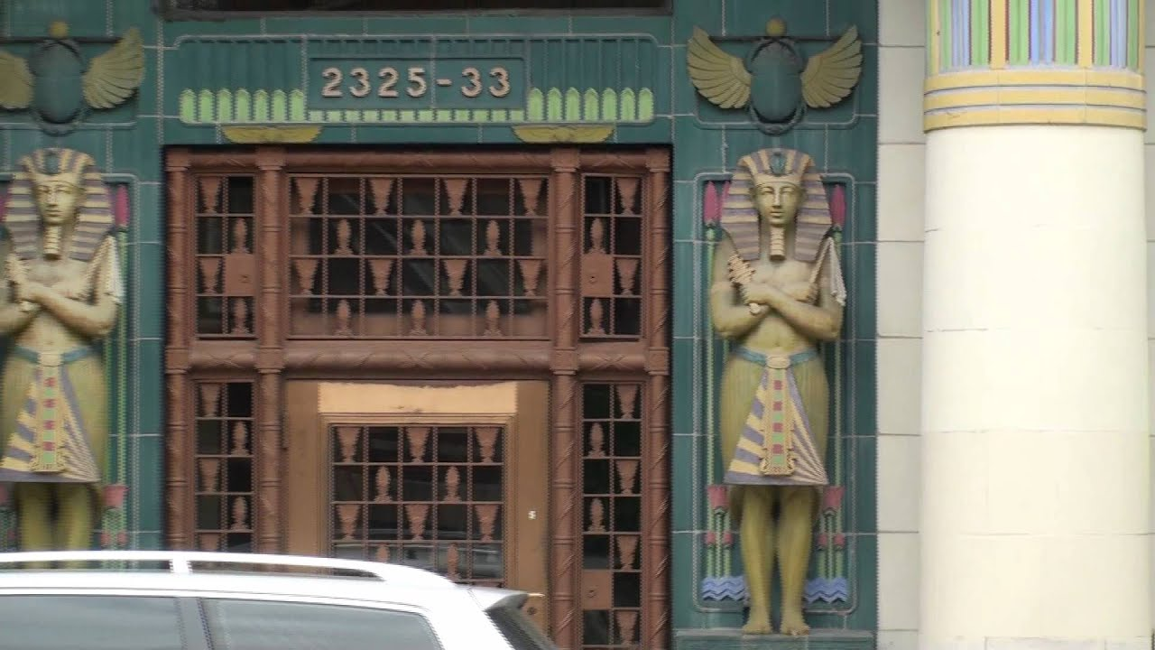 Rebbie Moving Storage Building Egyptian Revival National Historic Spot