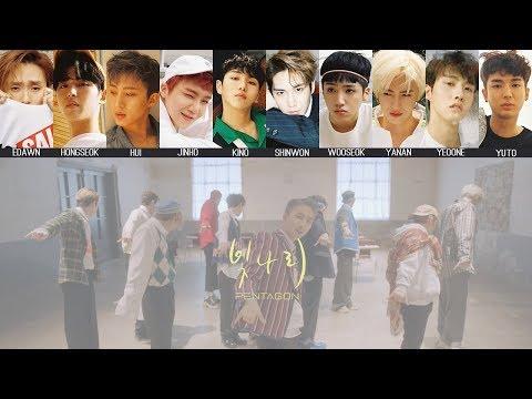 PENTAGON - Shine(빛나리) MV + Lyrics Color Coded HanRomEng