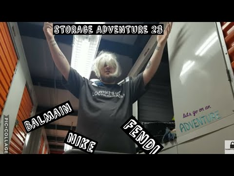 Storage Adventures 23: Fashion Balmain, bernhard willhelm, Nike and Fendi in Brooklyn Fast Cash!