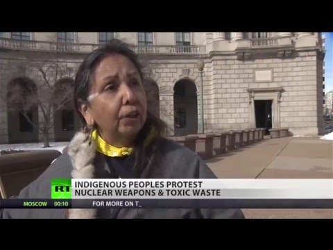 Indigenous people protest EPA's nuclear plans