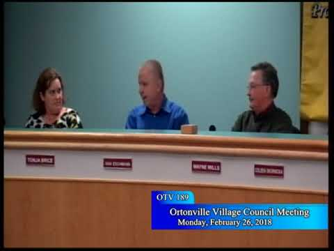 2/26/2018 Ortonville Village Council Meeting