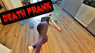 DEAD GIRLFRIEND PRANK on BOYFRIEND!! (death prank) | CASHMORE pranks