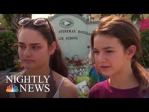 Students Return To Marjory Stoneman Douglas High School Since School Shooting | NBC Nightly News
