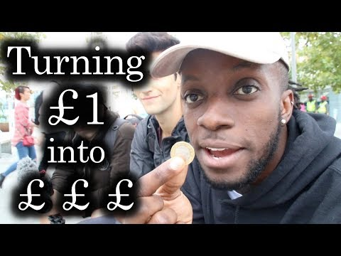Turning £1 into £££ in London! | Day1