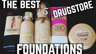 I'M GOING TO SHOW YOU THE BEST DRUGSTORE FOUNDATIONS OUT THERE! Of ...