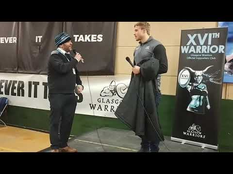 Glasgow v Munster Post game talk with Jonny Gray by Gavin Pearson