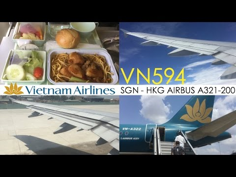 Vietnam Airlines VN594 : Flying from Ho Chi Minh City to Hong Kong