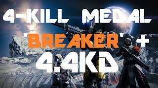 Destiny BETA Blind Watch 4.4KD Gameplay with Overkill/Breaker!