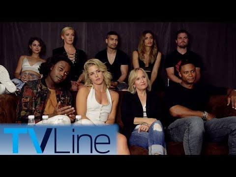 Arrow    Michael Emerson Reaction  Double Wedding?  ComicCon 2017  TVLine