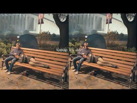 batman ps4 gameplay 1080p vs 4k