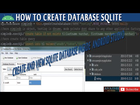 How To Create Database Using Sqlite With Android Studio | Android Sqlite Tutorial Step By Step