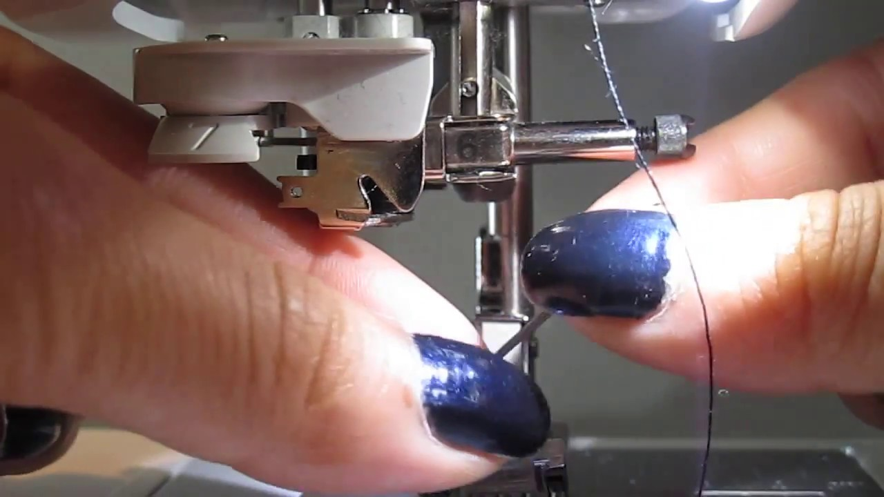 How to change the needle on a Brother Sewing Machine - YouTube