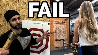World Champion Reacts to VIRAL Axe Throwing FAIL