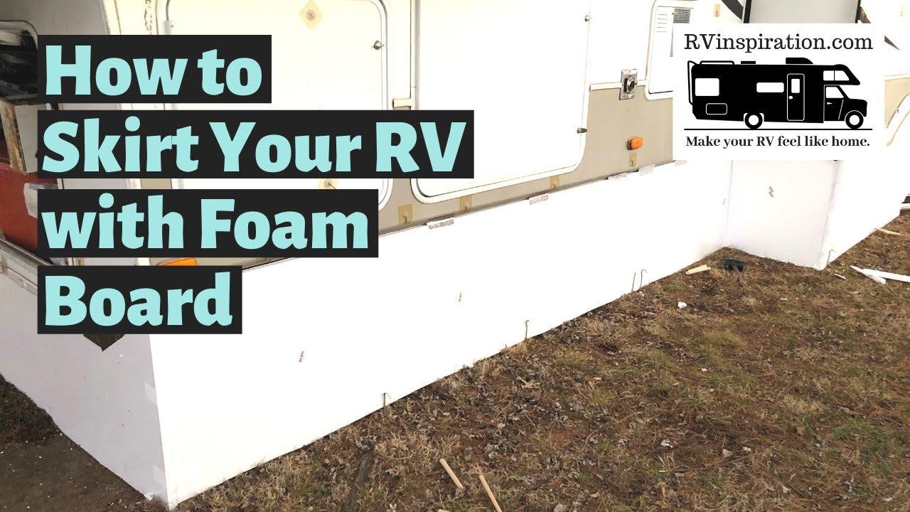 How We Made $200 DIY Vinyl RV Skirting for Winter Camping
