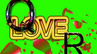 Q Love R Letter Green Screen For WhatsApp Status | Q & R Love,Effects chroma key Animated Video