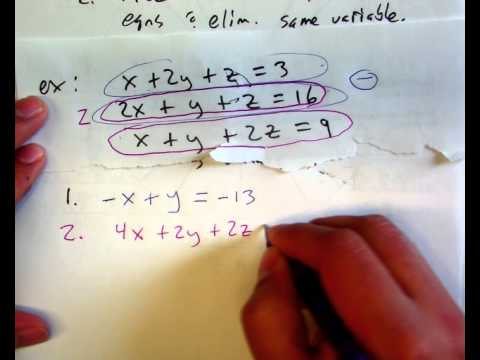 11.2 and more:  Systems larger than 2x2.  Matrices.