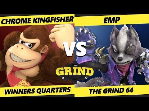 Smash Ultimate Tournament - Chrome Kingfisher (DK) Vs. EMP (Wolf) - The Grind 64 SSBU W Quarters