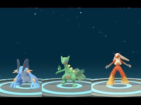 Pokémon GO Brasil #181 – EVOLUÍ TODOS OS INICIAIS DA TERCEIRA GERAÇÃO !!! SWAMPERT, SCEPTILE E BLAZI