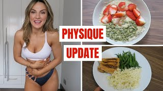 WHAT I EAT IN A DAY | My Physique Update, I'm Nervous!