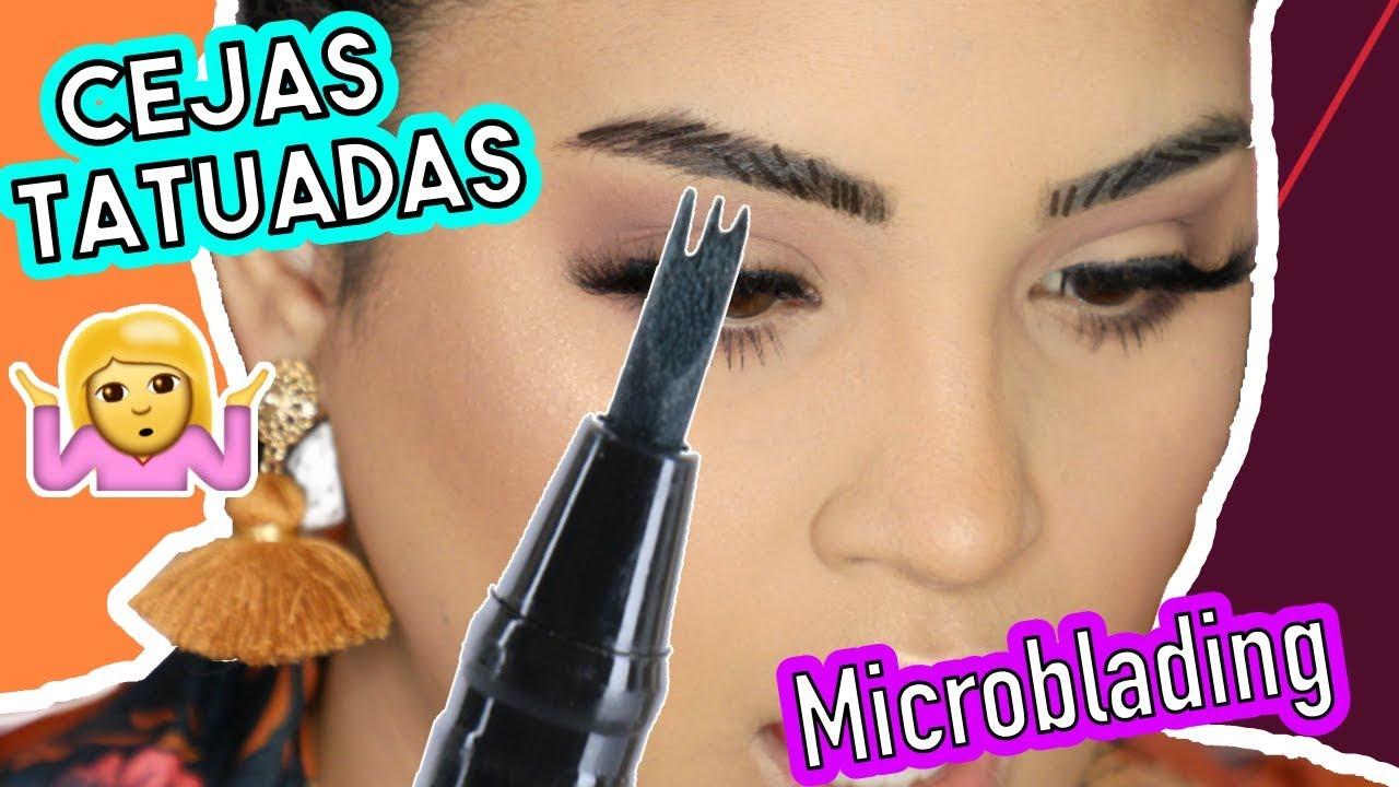 Microblading en casa para tener cejas perfectas - Productos nuevos de maquillaje