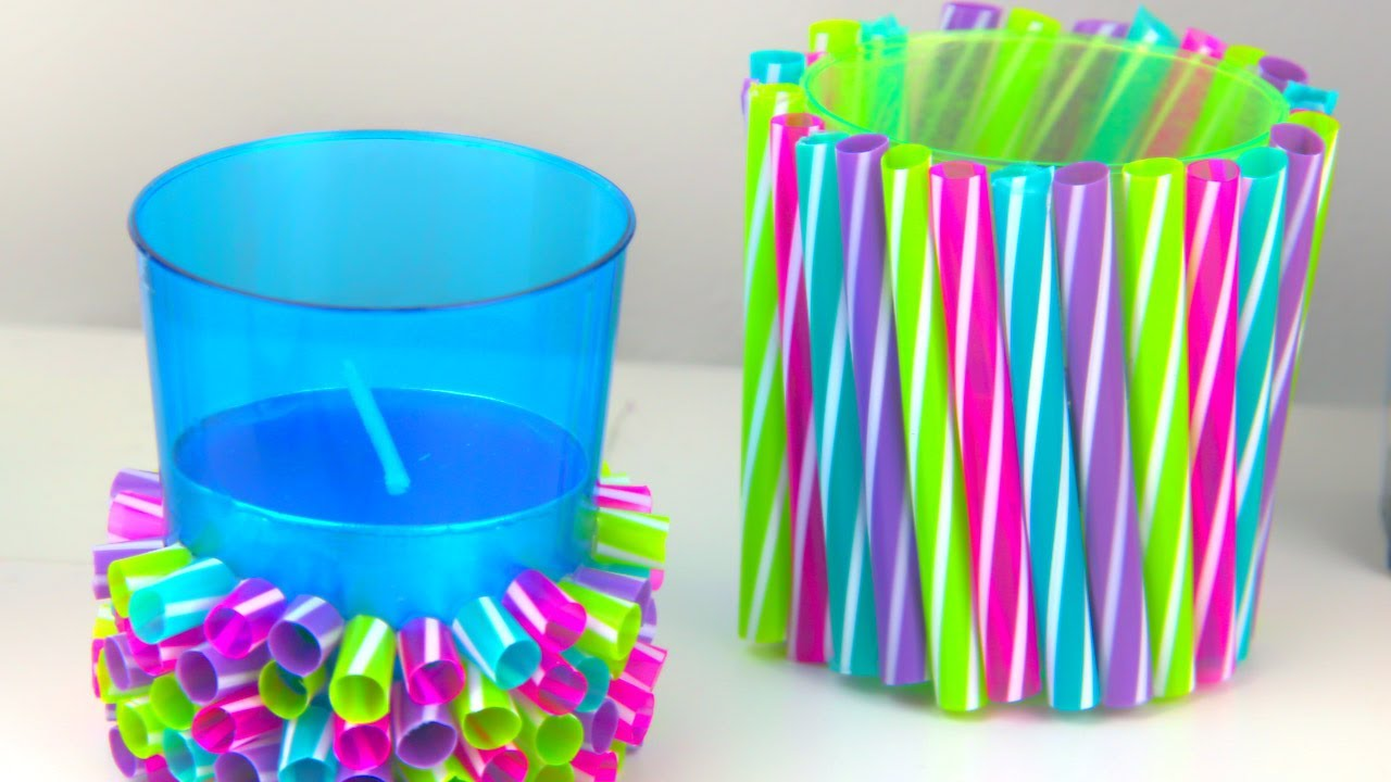 Diy Straw Crafts Amazing Drinking Straw Ideas Youtube