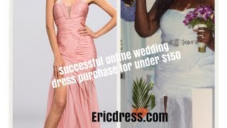 Ericdress.com Review: My wedding dress was under $150 & purchased online from China based site!