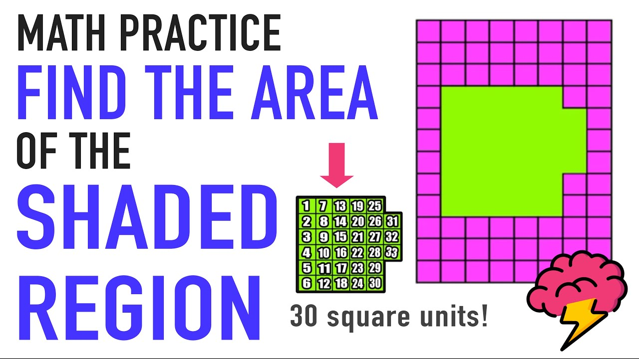 medium resolution of Practice Finding the Area of a Shaded Region (Rectangular) - YouTube