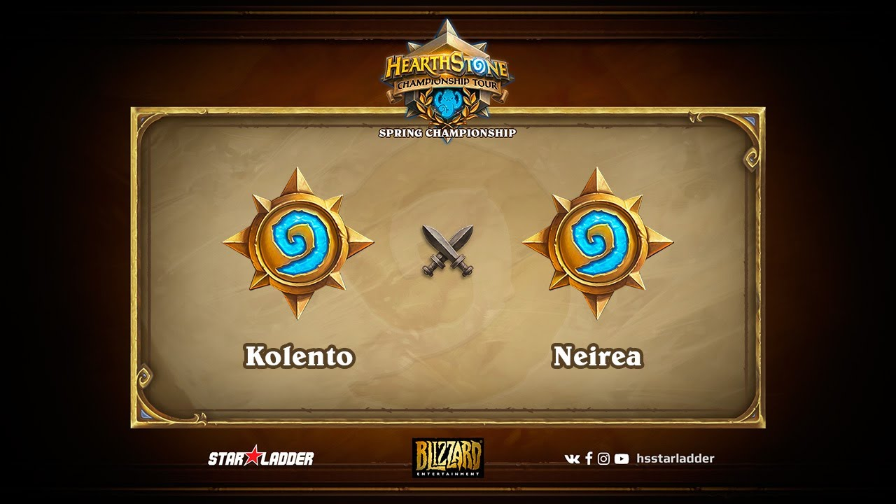 MUST SEE! Kolento vs Neirea, 1/2, Hearthstone Championship Tour Spring 2017
