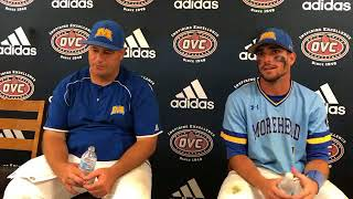 Morehead State Coach Mike McGuire (2018 OVC Baseball Championship Game 13 Postgame)