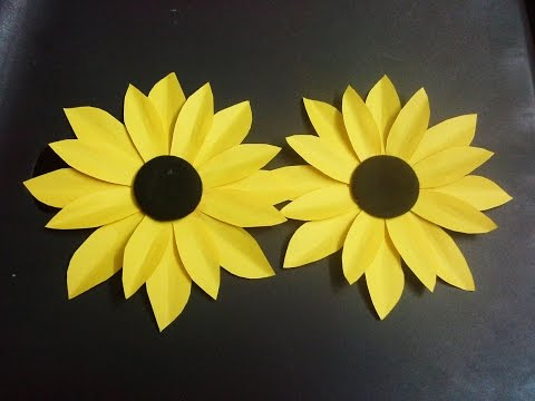 how to make a paper flower tutorial (sunflower) paper crafts