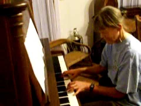 Ragtime Party! part 3 -- Six pianists on four pianos, plus 1 banjo