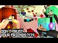 Murder Don't Trust Your Friends?!?!!!! - Chad and Sally!! - Minecraft Partyzone Server Minigame