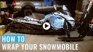 How To Wrap A Sled - Snowmobile Wrap Finished Product