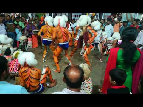 Pili Nalike 2017 (Tiger Dance) @MangalaDevi Temple Mangalore