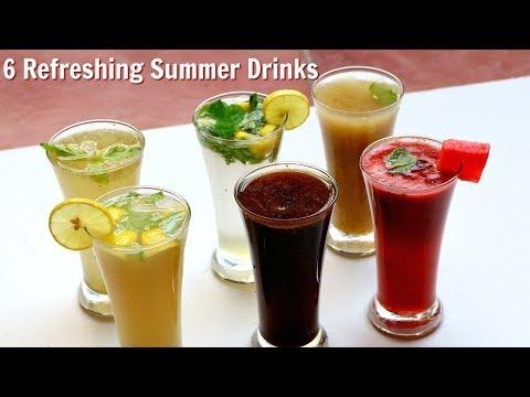 6 तरीके के फ्रेश ड्रिंक गर्मियों के लिए | 6 Refreshing Summer Drinks | Summer Drink | kabitasKitchen