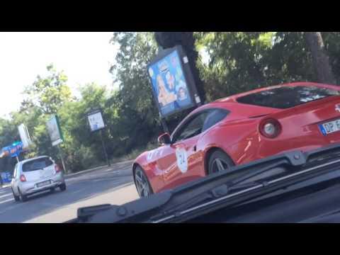 Ferrari 599 GTB Vs Ferrari F12 Santa Claus Cavalcade...Cavallini Di Razza!
