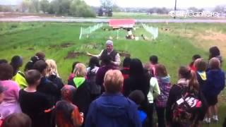 Paul Cure gives a tour of the farm to Crest View 5th graders #farms
