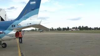 El presidente Mauricio Macri en la presentación de los aviones Pampa III
