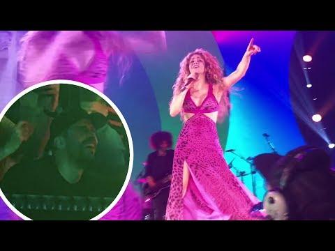 Gerard Piqué watching Shakira's concert (El Dorado World Tour Cologne Lanxess Arena) HD