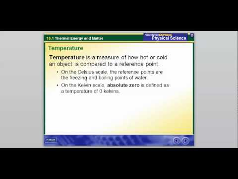 Thermal Energy and Matter