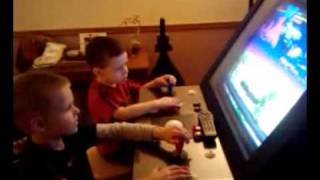 My nephew and a friends son playing rampage arcade...